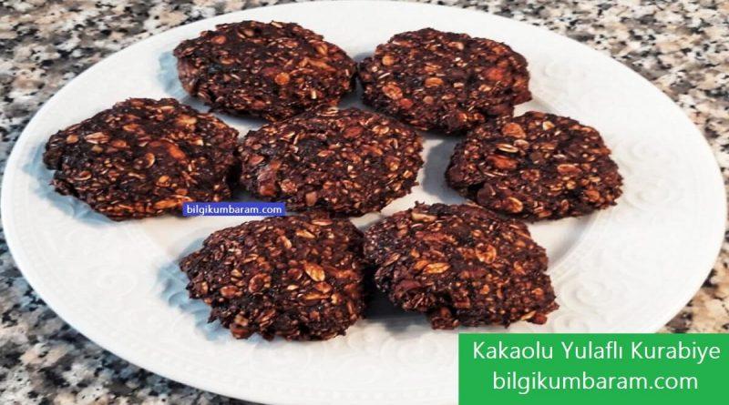 Kakaolu yulaflı kurabiye yapılışı