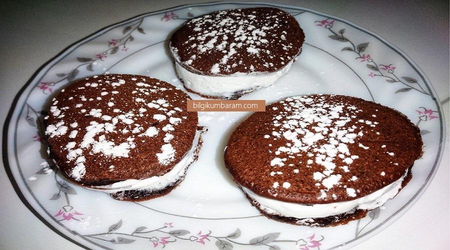 Kek burger hazırlanışı